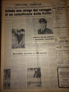 Foto: quotidiano L'Arena, anno 1970